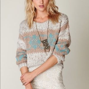 Free people Fairisle cropped sweater